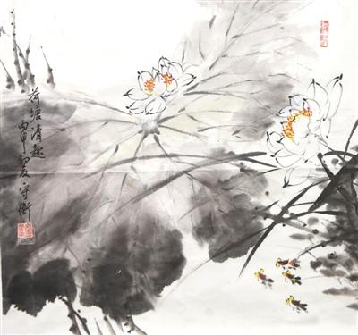 荷塘清趣(国画)