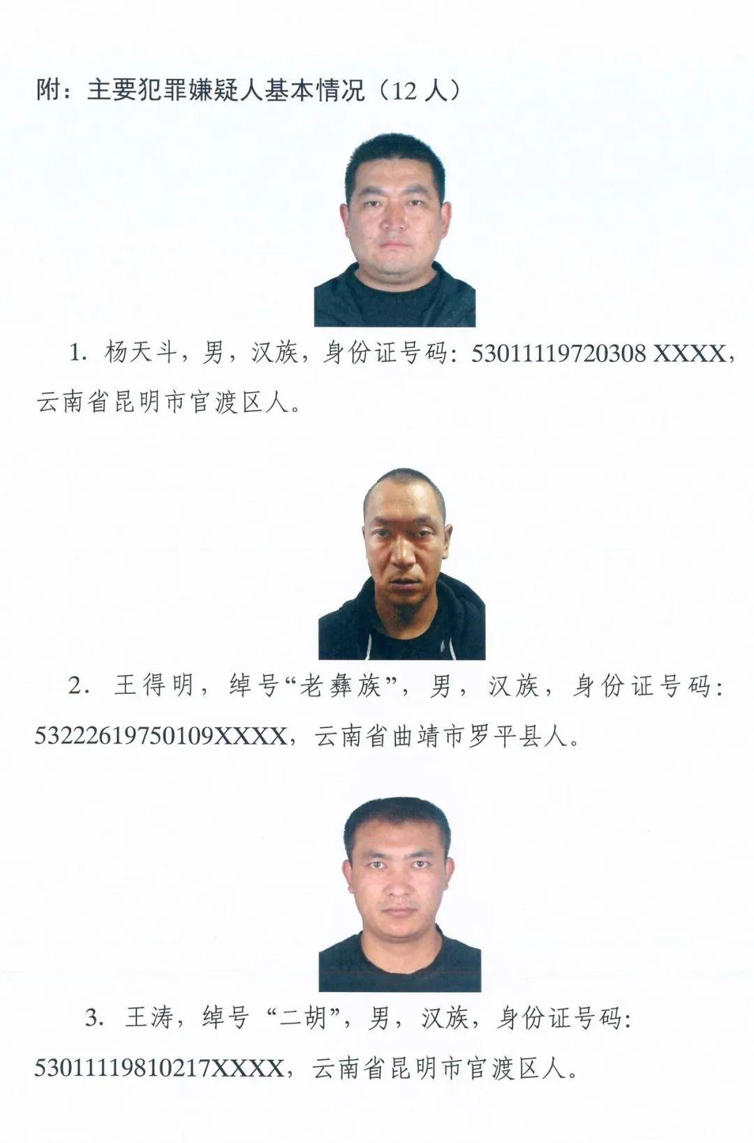 非法拘禁、强奸、敲诈勒索…有这12人的线索赶紧向昆明警方举报