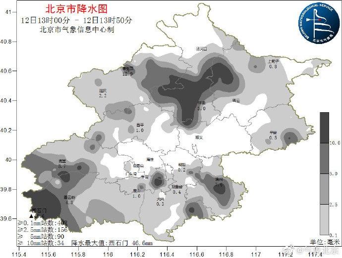 目前北京强降雨集中在大兴和通州一带