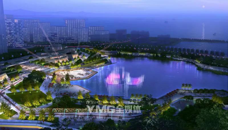 开发区八角河年底竣工,烟台再添一处音乐喷泉灯光秀!