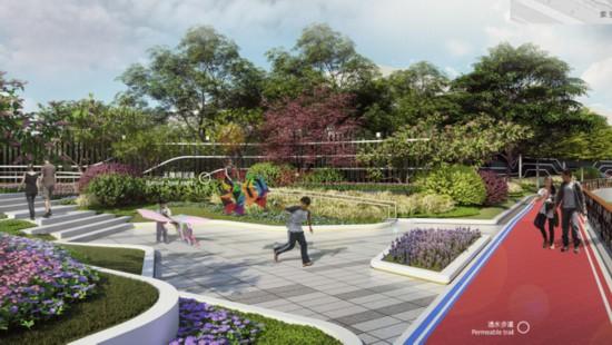 苏州河长宁段,11.2公里岸线串联10座公园绿地,篮球场滑板场都安排上了