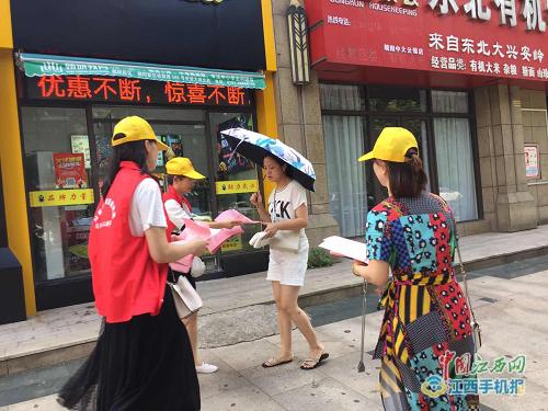西湖区桃花镇开展垃圾分类宣传活动(图)