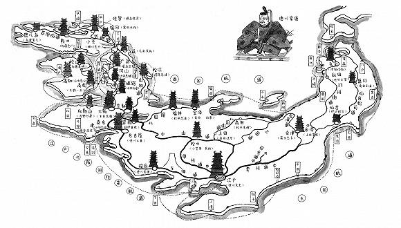 德川家康所建造的江户町