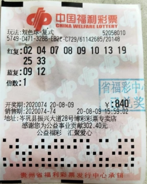 黔东南彩民获893万元大奖