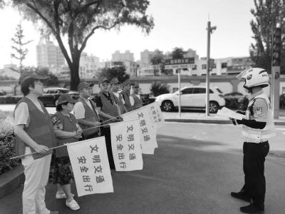 """太原市万柏林区法院开展""""文明交通,安全出行""""志愿服务活动"""
