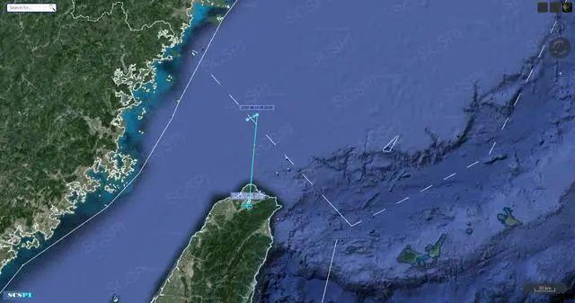 美军一架侦察机疑似侵入中国台湾