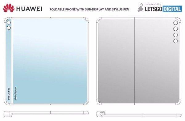 华为下一代折叠屏手机设计专利曝光:内折形态 配手写笔