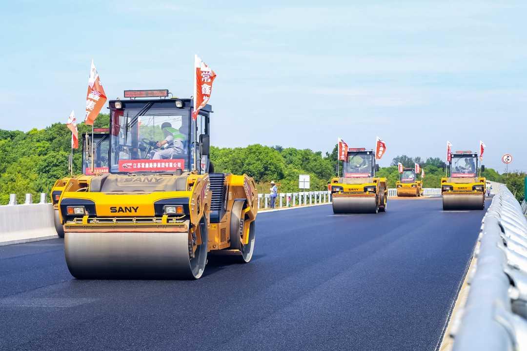 三一设备助力高速公路建设自主化