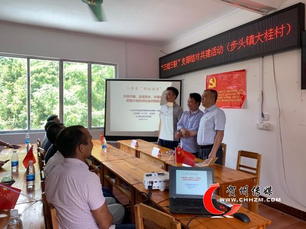 八步区市场监督管理局机关党委到大桂村开展支部共建活动