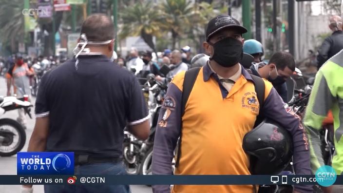 委内瑞拉自4月份以来面临汽油短缺危机 视频截图