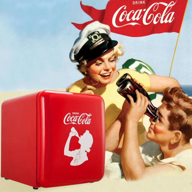 外貌协会新成员!HCK哈士奇x可口可乐联名款复古冰箱