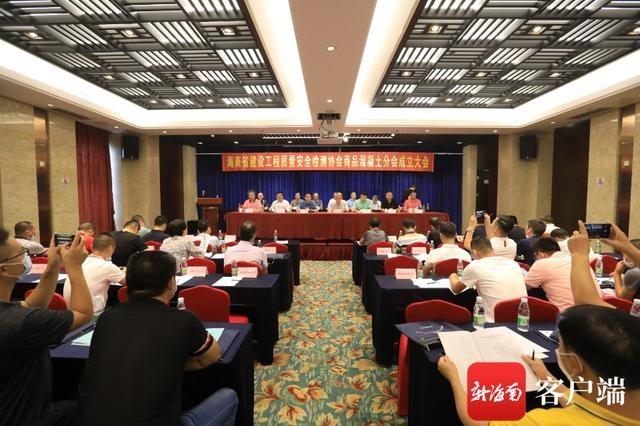 引领行业健康发展 海南省建设工程质量安全检测协会商品混凝土分会成立