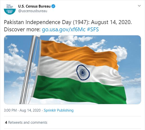 巴基斯坦独立日,美国官方却搞了个大乌龙