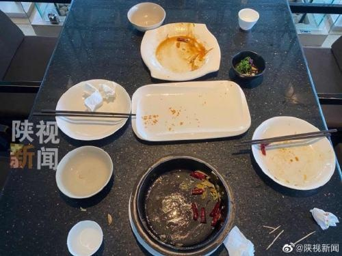 西安真爱年华餐馆将适量点餐纳入服务员月考核 有剩菜将扣分