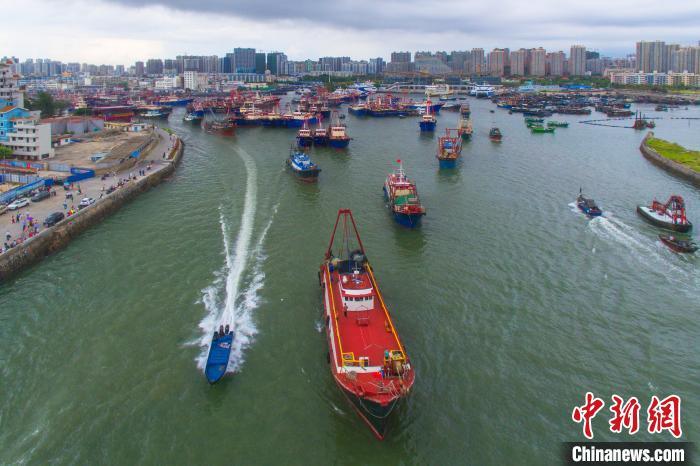 航拍广西北海侨港渔港。徐绍荣 摄