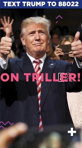 特朗普在Triller的新账号,视频截图