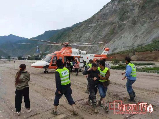 公航旅金汇通航直升机赶赴陇南抗洪救灾一线实施救援