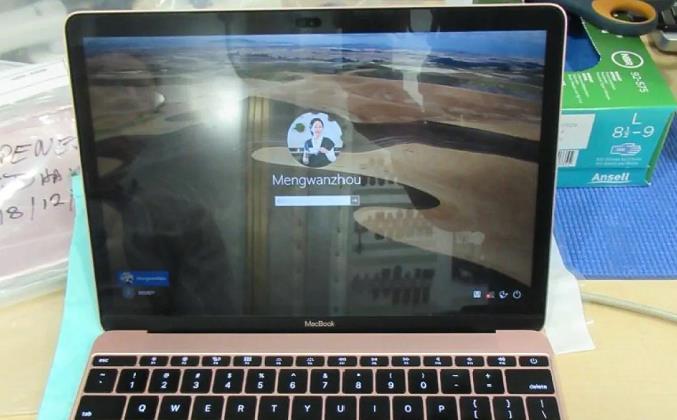 加拿大边境服务局搜查了孟晚舟的笔记本电脑(图片来自法庭)