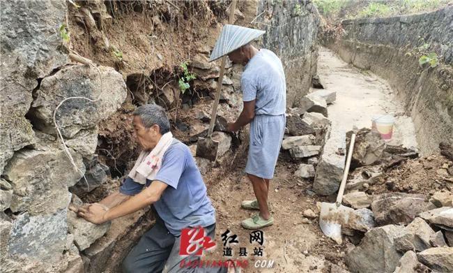 道县:党员干部上阵 引水抗旱保苗