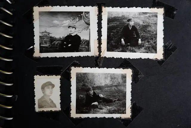 郭尚仁年轻时的照片。中青报·中青网记者杨海/摄