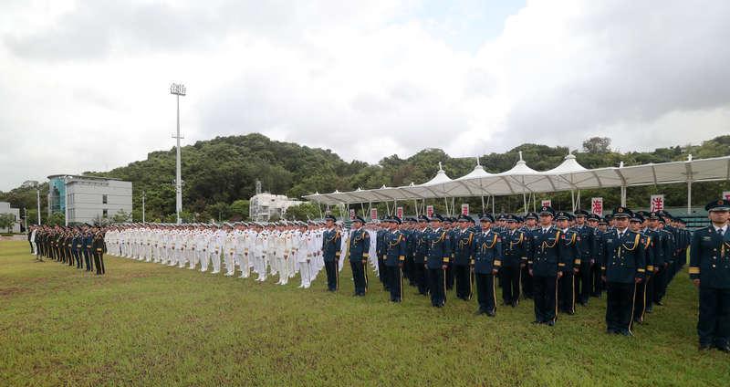 驻香港部队举行八一升国旗仪式