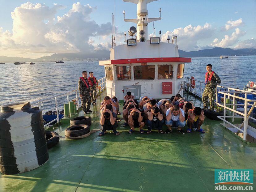开展执法巡查 广东海警查扣11艘大马力摩托艇