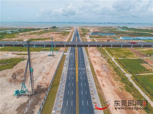 """滨海湾新区交椅湾板块基础设施建设加速推进 """"五纵两横一桥""""现雏形图片"""