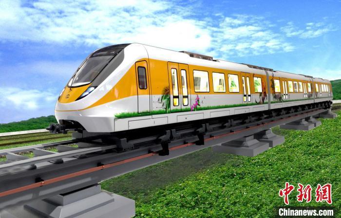 20日,中车唐山公司清远磁浮列车开始运行试验。 吴可超 摄
