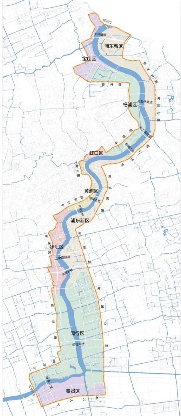 """上海""""一江一河""""沿岸地区建设规划公布"""