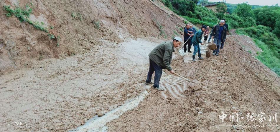 张家川县六堡镇全力开展防洪救灾工作