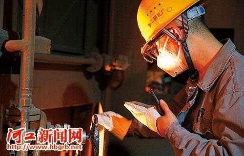 被钢铁之花烘烤的钢铁制造商