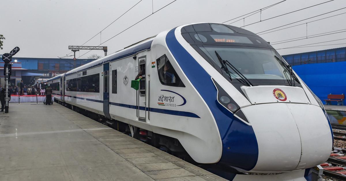 """印度""""Vande Bharat""""列车,图自PTI"""