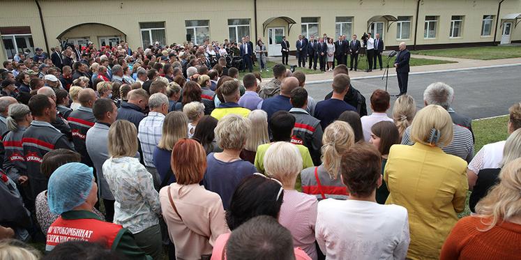 21日,卢卡申科发表讲话现场 来源:白俄罗斯国家通讯社(Belta)