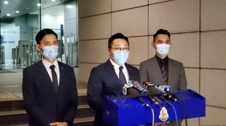 香港警方向媒体陈述案情(图源:港媒)