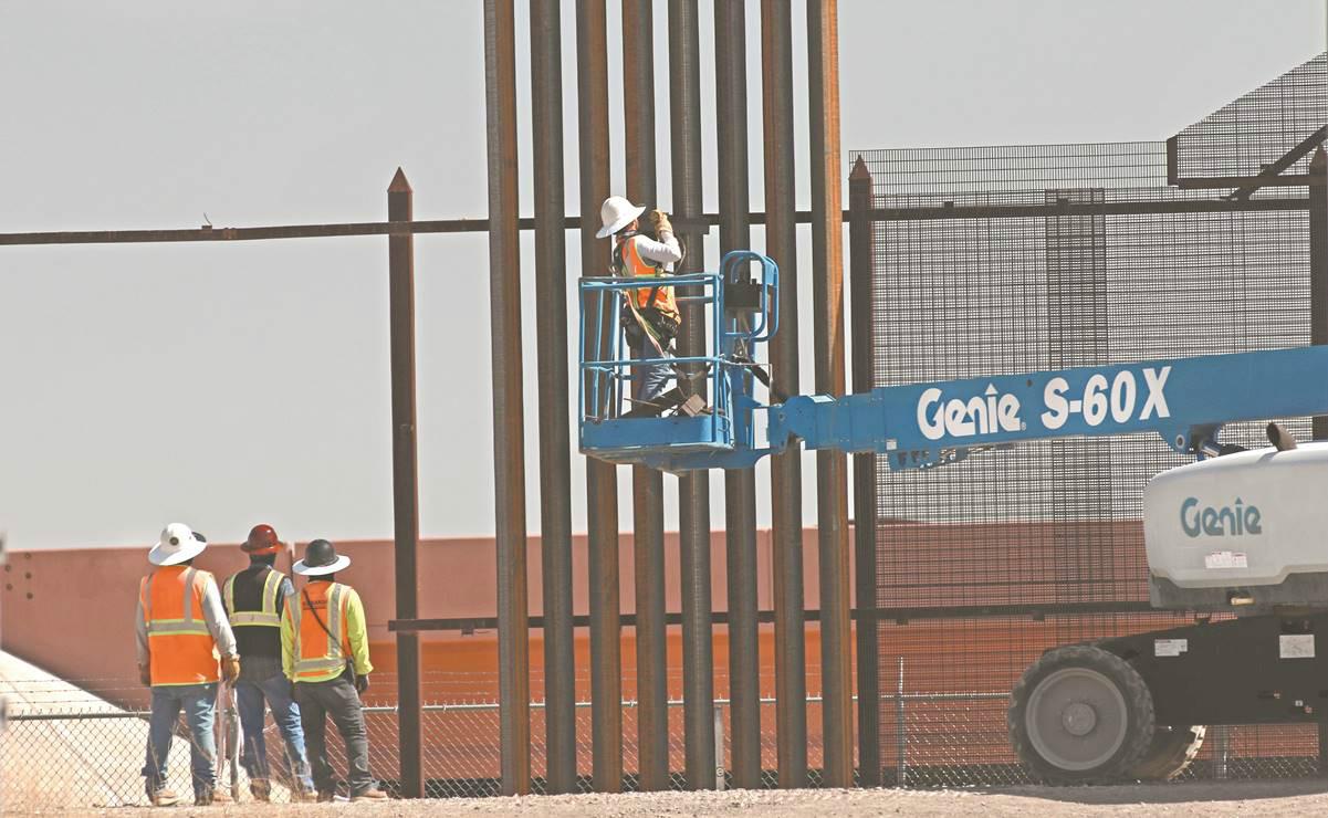 △图为美国建造新的边境墙
