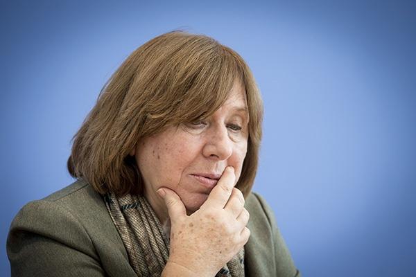 诺贝尔文学奖得主斯韦特兰娜·阿列克谢维奇。人民视觉 资料图