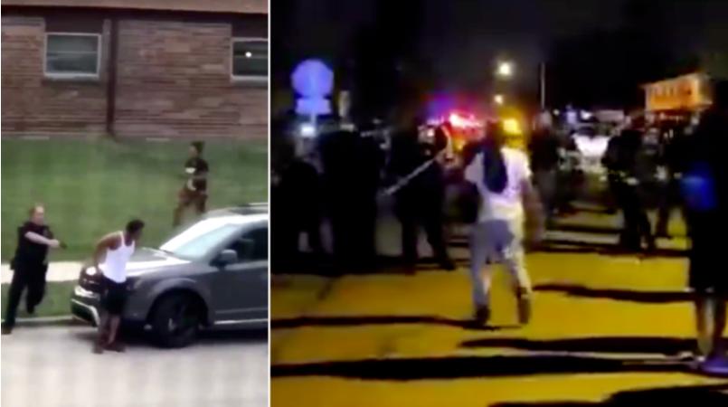 连中美国警察至少7枪,黑人男子瘫痪