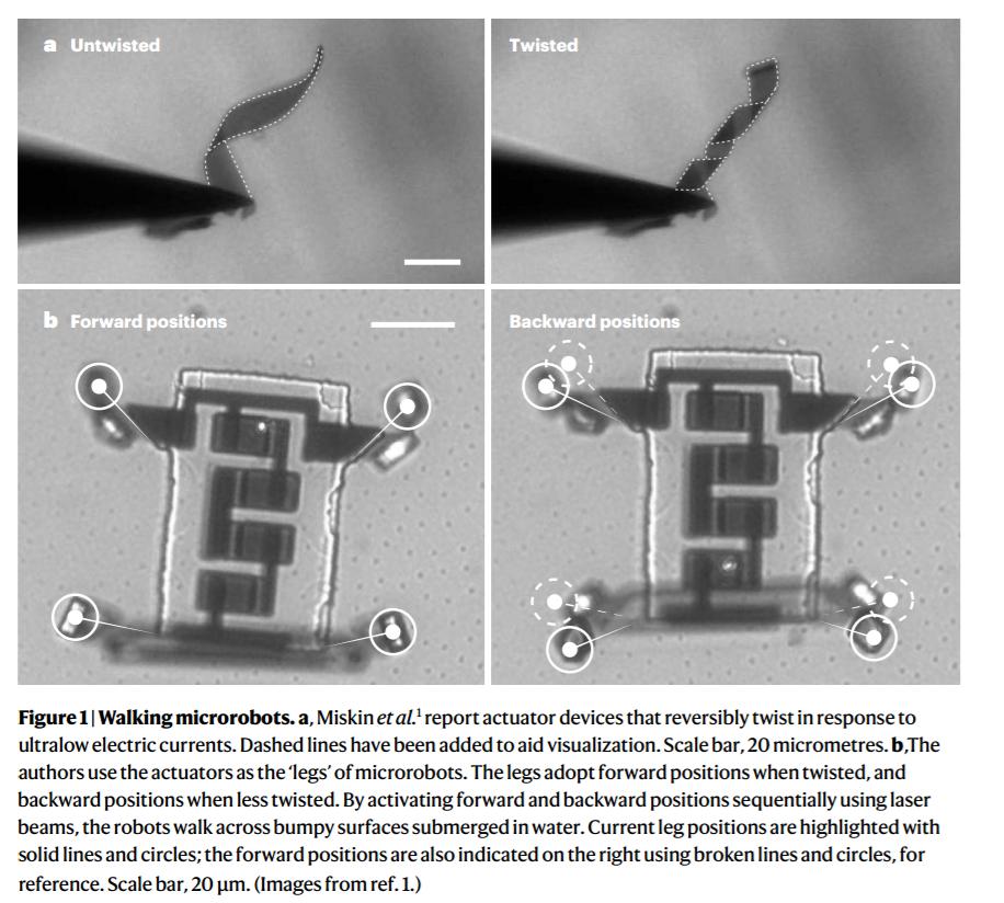 《自然》发表了微型机器人的新突破:薄如头发