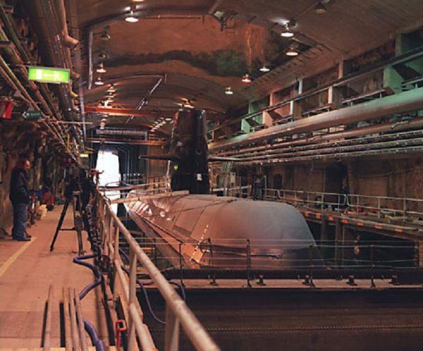 资料图片:为防御核打击,瑞典冷战时期专门修建了穆斯克地下海军基地。(瑞典国防部网站)