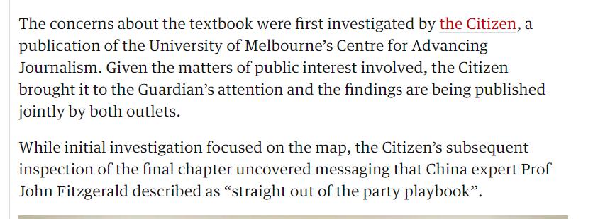 截图来自炒作此事的英国《卫报》澳大利亚版的报道