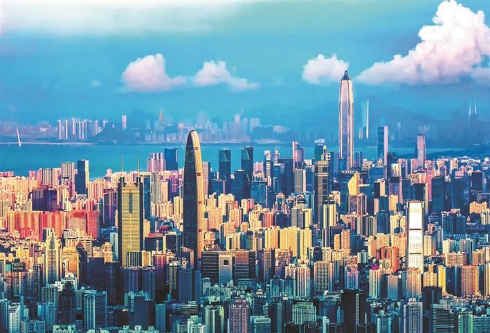 建立40周年的深圳经济特区风华正茂。深圳特区报记者 李伟文 廖铭香 摄