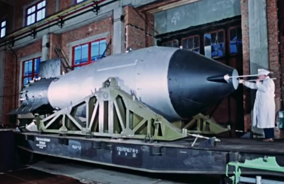 史上最大核弹试爆画面首次曝光 约为5000万吨TN