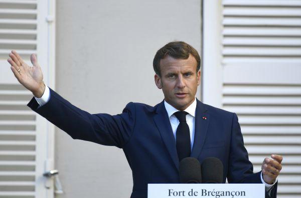 """法国总统称在东地中海已设定与土耳其的""""红线"""""""