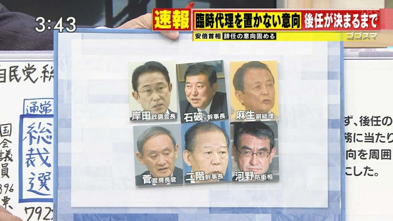 """安倍之后谁有可能继任?日本似乎要陷入一场""""混战"""""""