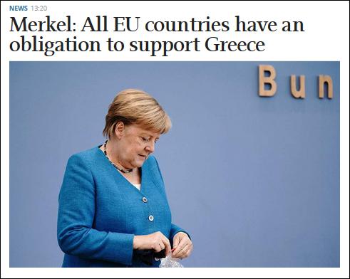 默克尔呼吁欧盟国家支持希腊 法意希塞四国联合军演
