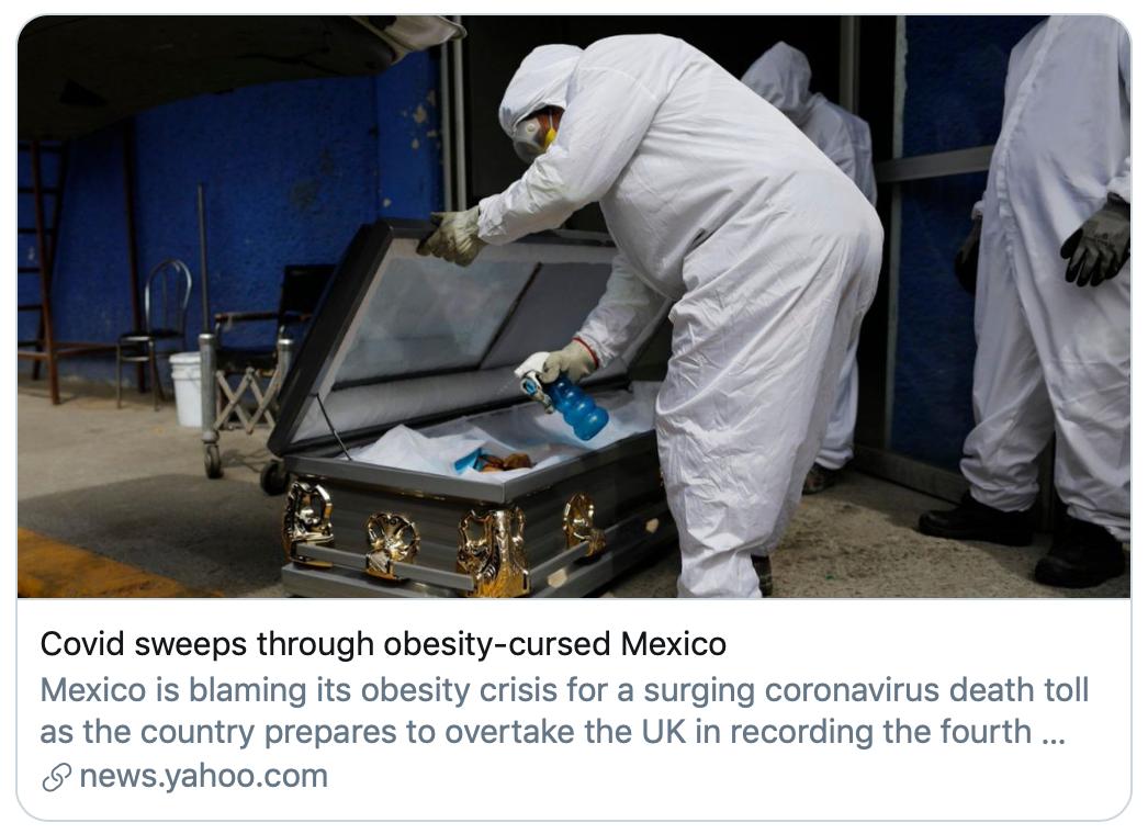 """《【超越在线娱乐注册】墨西哥新冠死亡数全球第三 总统拒绝戴口罩并提三项""""奇葩建议""""》"""