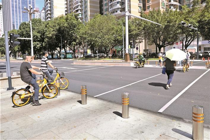 红荔路莲花山公园段慢行系统2.0上岗
