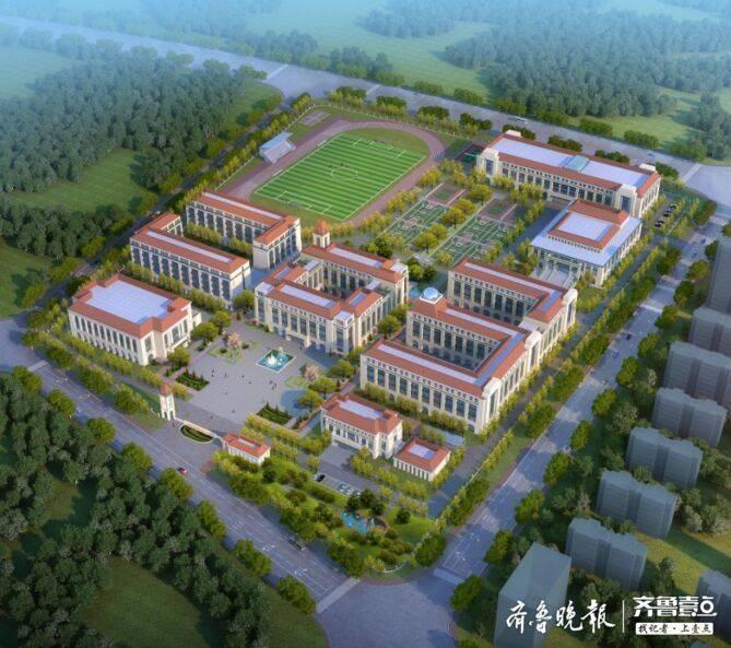 青岛五十八中高新校区开始主体施工!力争明年秋季开学投用