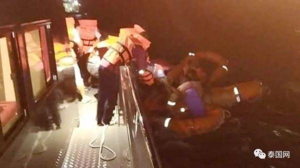 泰国苏梅岛游轮侧翻,沉入海底!沙墩府5艘渔船失火,损失惨重