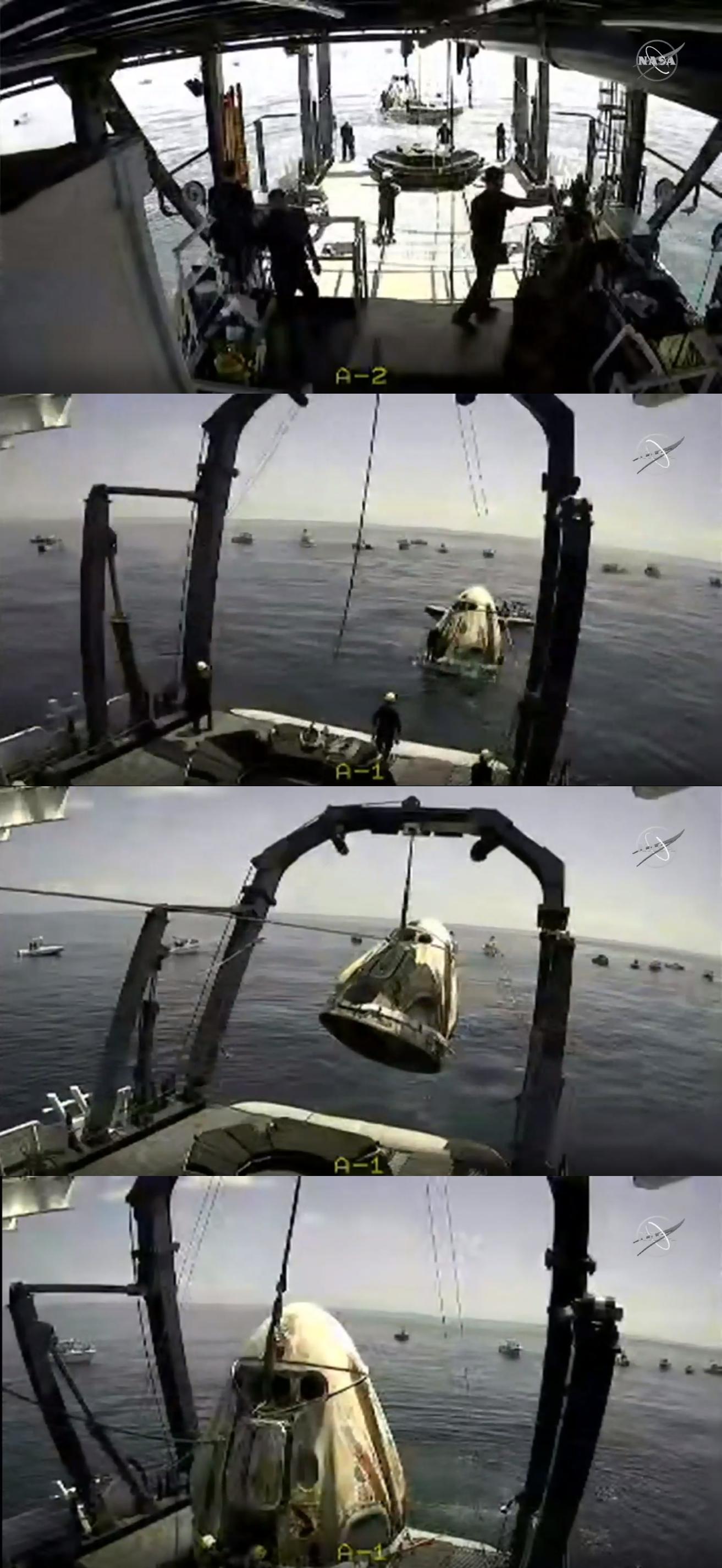 在轨64天后龙飞船返地球,最早9月底发射首次载人飞行任务